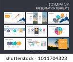 presentation slide template for ... | Shutterstock .eps vector #1011704323