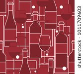 seamless pattern with wine... | Shutterstock .eps vector #1011709603