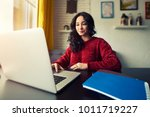 concentrated at work young... | Shutterstock . vector #1011719227