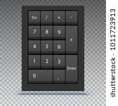 numeric keypad  close up view.... | Shutterstock .eps vector #1011723913