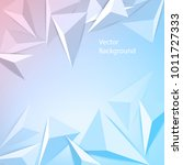 vector background from polygons ... | Shutterstock .eps vector #1011727333
