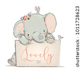 Little Lovely Elephant With...