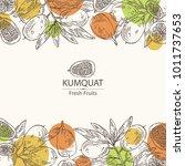 background with kumquat  branch ...   Shutterstock .eps vector #1011737653