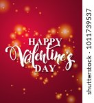 happy valentine's day lettering.... | Shutterstock .eps vector #1011739537