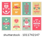 retro cards for happy... | Shutterstock .eps vector #1011742147