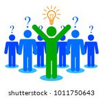 problem and its solution  ...   Shutterstock .eps vector #1011750643