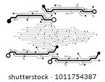 vector circuit board pattern... | Shutterstock .eps vector #1011754387