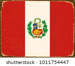 vintage metal sign   peru flag  ... | Shutterstock .eps vector #1011754447