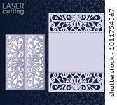 laser cut wedding invitation... | Shutterstock .eps vector #1011754567