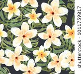 floral seamless pattern with... | Shutterstock . vector #1011759817