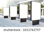 four billboard for outdoor... | Shutterstock . vector #1011762757