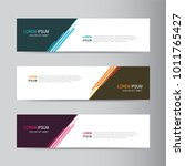 vector abstract banner design... | Shutterstock .eps vector #1011765427