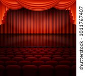 stage with spotlight and red... | Shutterstock .eps vector #1011767407