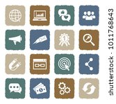 digital marketing icons. grunge ... | Shutterstock .eps vector #1011768643