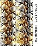 snake skin texture.  texture...   Shutterstock .eps vector #1011778303