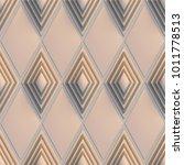 3d background  pink rhombuses ...   Shutterstock . vector #1011778513