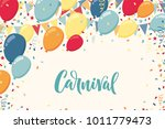 colorful balloons with... | Shutterstock .eps vector #1011779473