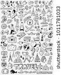 travel doodle set | Shutterstock .eps vector #1011781033
