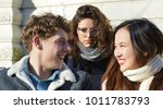 couple being watched by ex lover | Shutterstock . vector #1011783793