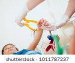 doctor with electrocardiogram...   Shutterstock . vector #1011787237