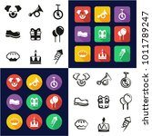 clown all in one icons black  ...   Shutterstock .eps vector #1011789247