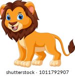 cute lion cartoon isolated on... | Shutterstock .eps vector #1011792907