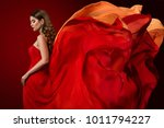 woman flying dress  elegant... | Shutterstock . vector #1011794227