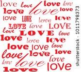 lettering design. love pattern... | Shutterstock .eps vector #1011798373
