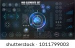 hud ui. abstract virtual... | Shutterstock .eps vector #1011799003
