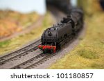 Model Trains In An Unfinished...
