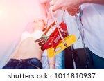 doctor with electrocardiogram...   Shutterstock . vector #1011810937