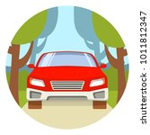 road travel on car outdoors on... | Shutterstock .eps vector #1011812347
