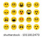 set of smiley emoticons. emoji... | Shutterstock .eps vector #1011812473