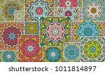 vector patchwork quilt pattern. ... | Shutterstock .eps vector #1011814897