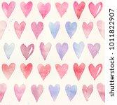 seamless watercolor pattern... | Shutterstock . vector #1011822907
