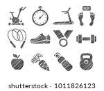fitness equipment and sports... | Shutterstock .eps vector #1011826123