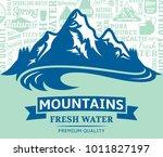 vector mountain water... | Shutterstock .eps vector #1011827197
