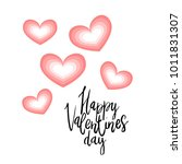 happy valentines day hand... | Shutterstock .eps vector #1011831307