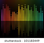 Colorful equalizer - stock vector