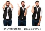 set of frustrated cool man | Shutterstock . vector #1011834937