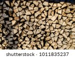 preparation of firewood for the ... | Shutterstock . vector #1011835237