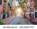 boston typical houses in...   Shutterstock . vector #1011844747