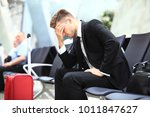 delayed flight   business... | Shutterstock . vector #1011847627