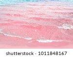 foamy rippled clear sea wave... | Shutterstock . vector #1011848167