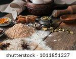 ingredients for cooking bread... | Shutterstock . vector #1011851227