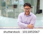 close up portrait of handsome... | Shutterstock . vector #1011852067