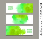 vector banner shapes collection ...   Shutterstock .eps vector #1011853633