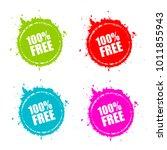 100 free round splatter set... | Shutterstock .eps vector #1011855943