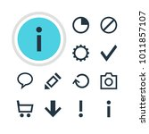 illustration of 12 user icons.... | Shutterstock . vector #1011857107