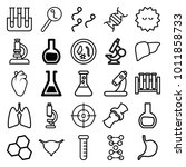 biology icons. set of 25... | Shutterstock .eps vector #1011858733